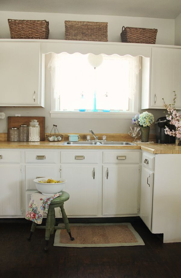 Kitchen Cabinets Painted! ~ before and after - Pretty Petals