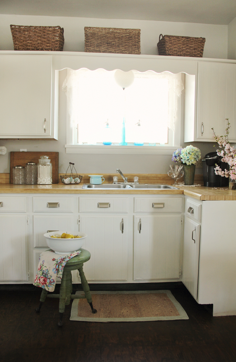 Kitchen Cabinets Painted Before And After Pretty Petals