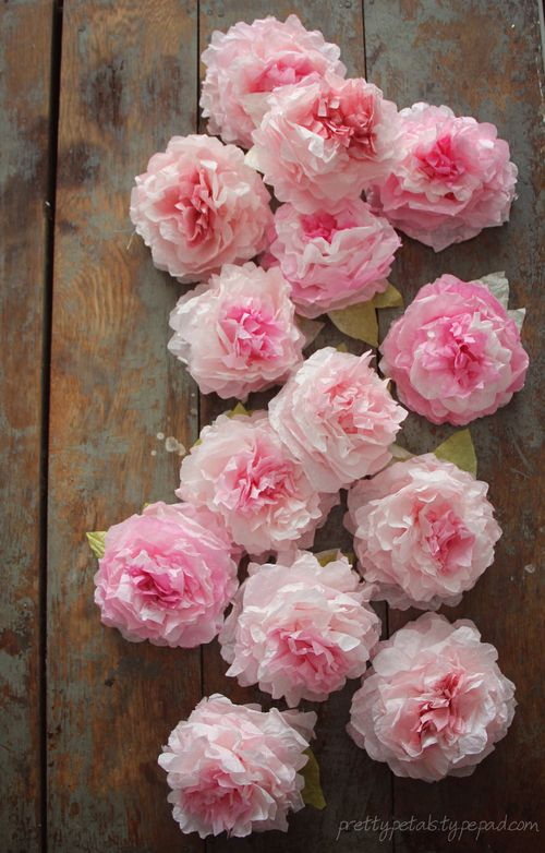 Peony Coffee Filter Flowers Tutorial Cfflowers11