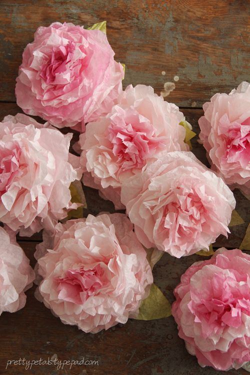 Peony Coffee Filter Flowers Tutorial